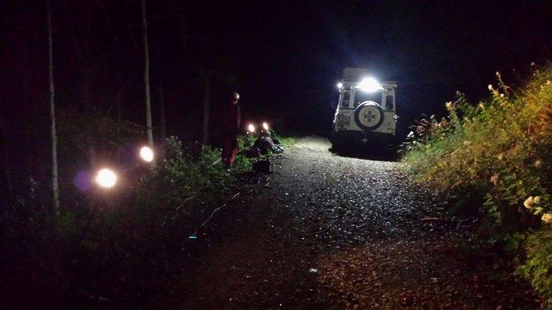 Unterstützende Beleuchtung bei der Bergung